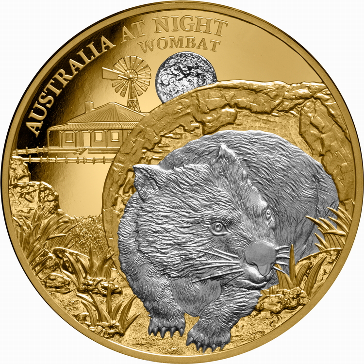 Niue_2021_Australia_at_Night_4_Wombat_$100_1_Troy_Ounce_Pure_Gold_Proof_with_Platinum_Plating_Mintage_150