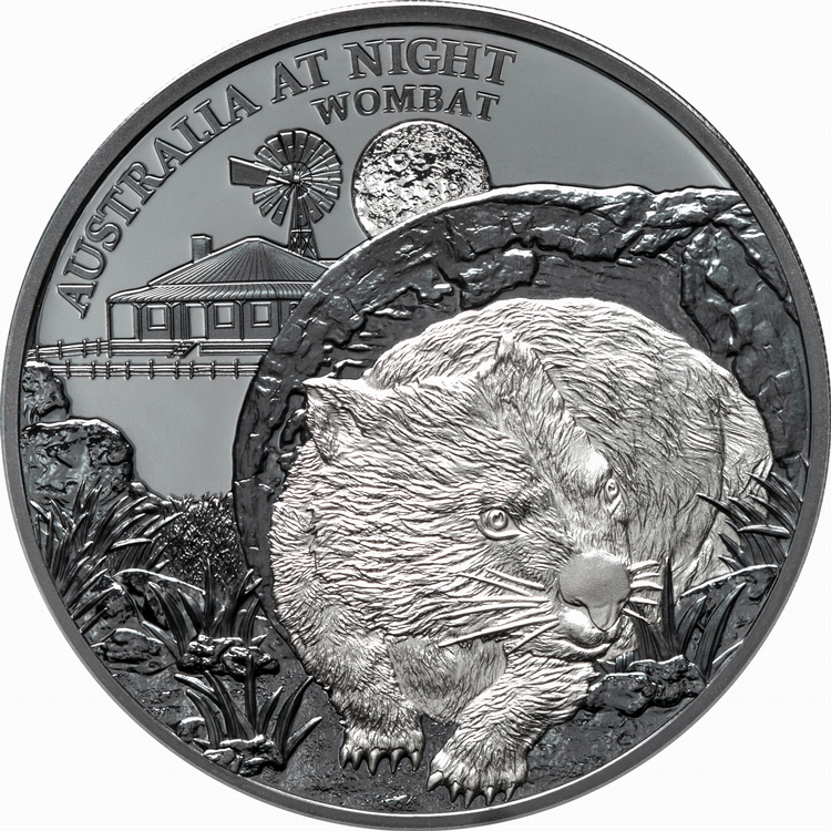 Niue_2021_Australia_at_Night_4_Wombat_$1_1_Troy_Ounce_Pure_Silver_Black_Proof