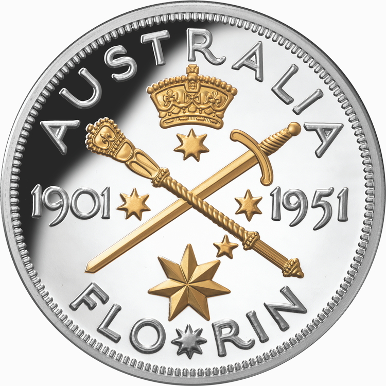 Niue_2021_Federation_Florin_1951_70th_Anniversary_$10_5_Troy_Ounce_Pure_Silver_Gilded_Proof_Mintage_Limit_500